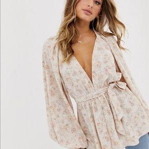 Asos kimono paisley top